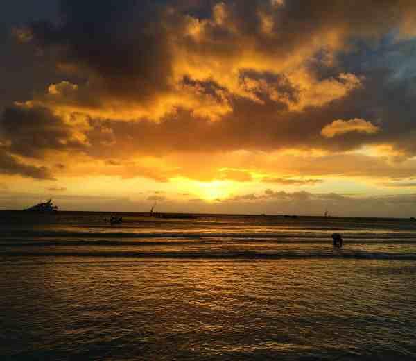 one week in boracay sunset