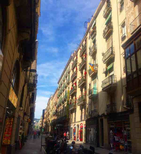 I loved the narrow streets with all the balconies!