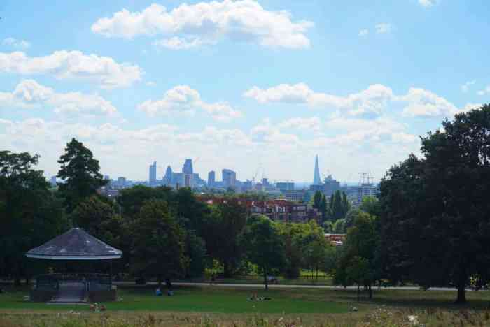 picnic in a london park with a city view hampstead