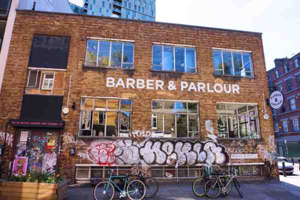 shoreditch on Sunday, Barber and Parlour Cafe