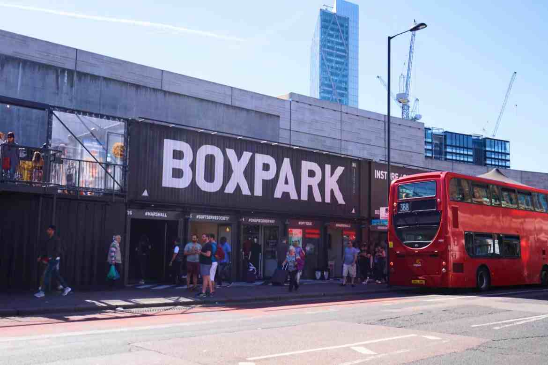 3 day London Day Itinerary, Box Park
