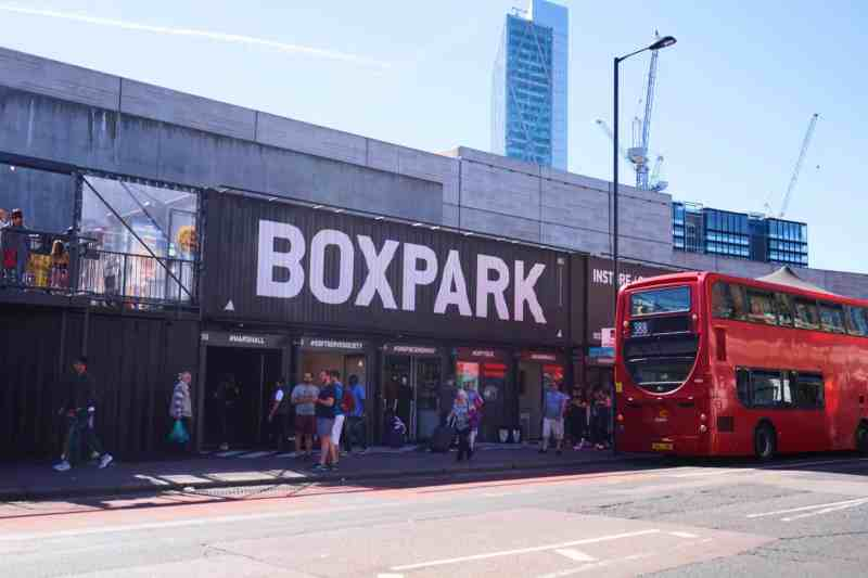 3 day London Day Itinerary, Box Park