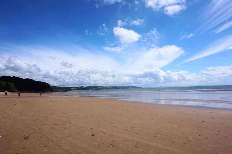 Saundersfoot Beach Tide out | Saundersfoot to Tenby