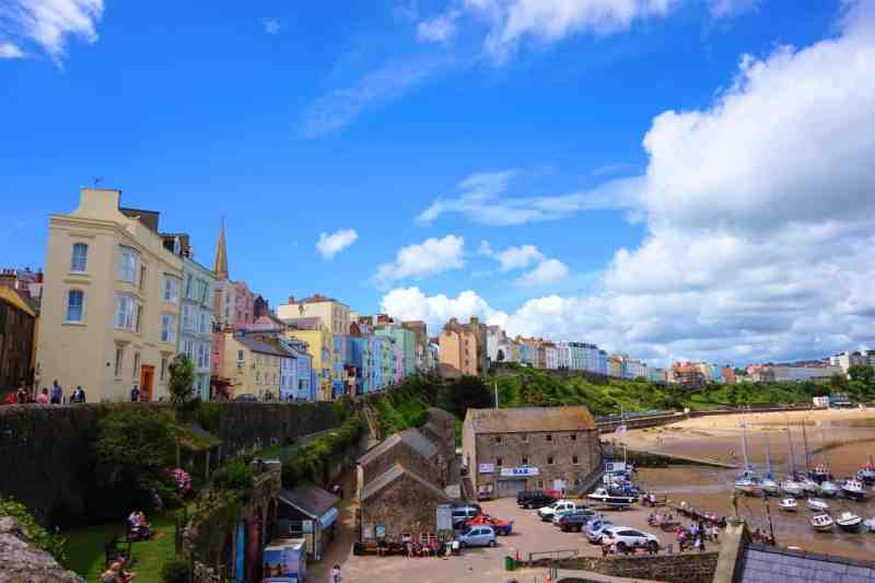 Colourful Tenby Houses and Harbour| Saundersfoot to Tenby