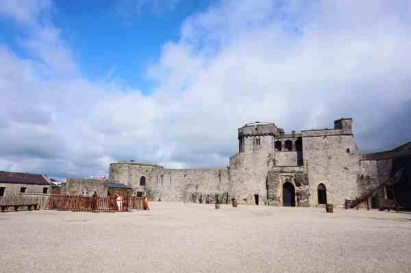 king johns castle inside limerick