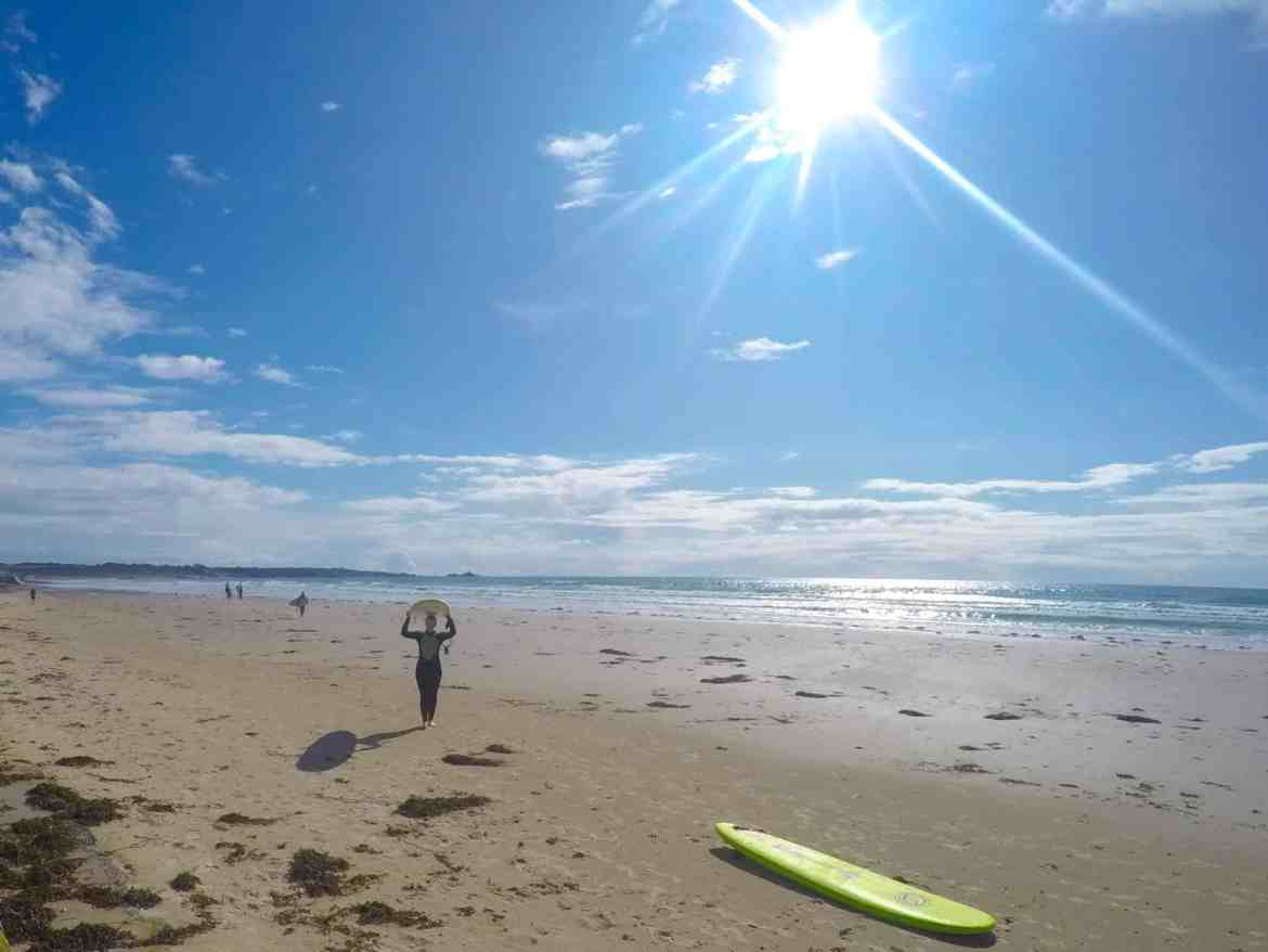 Jersey Channel Island itinerary, surfing