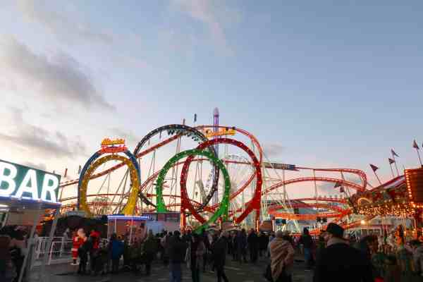Christmas London Guide Walk winter wonderland roller coaster