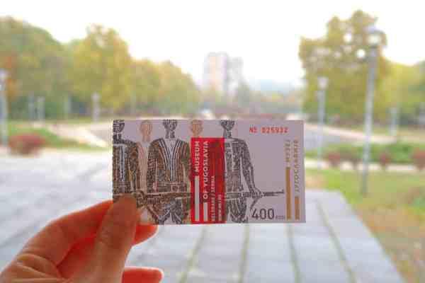 belgrade museum of Yugoslavia ticket