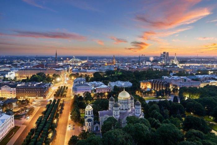 Riga Viewpoints panoramic view skyline bar