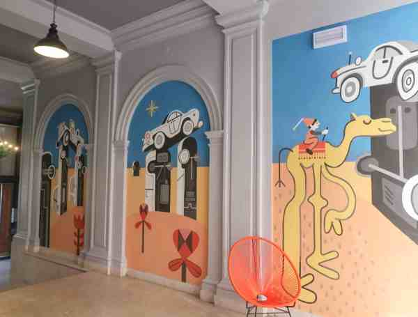 RomeHello Hostel Review, The RomeHello Hostel street art