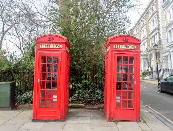 Primrose Hill Red Phone Boxes