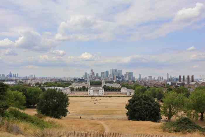 picnic in a london park with a city view greenwich