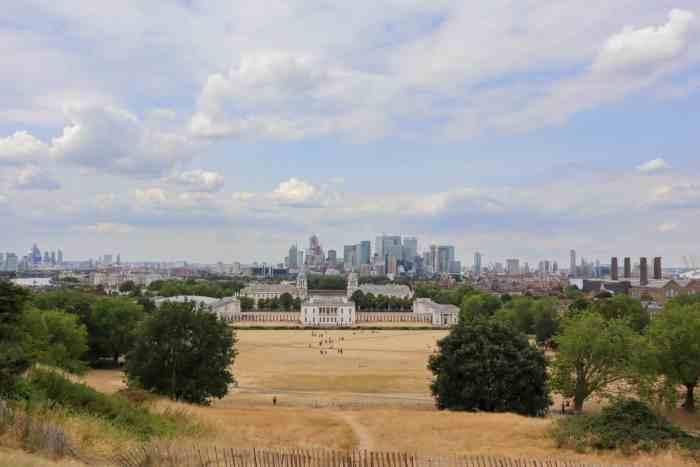 picnic spots in London, Greenwich Park View