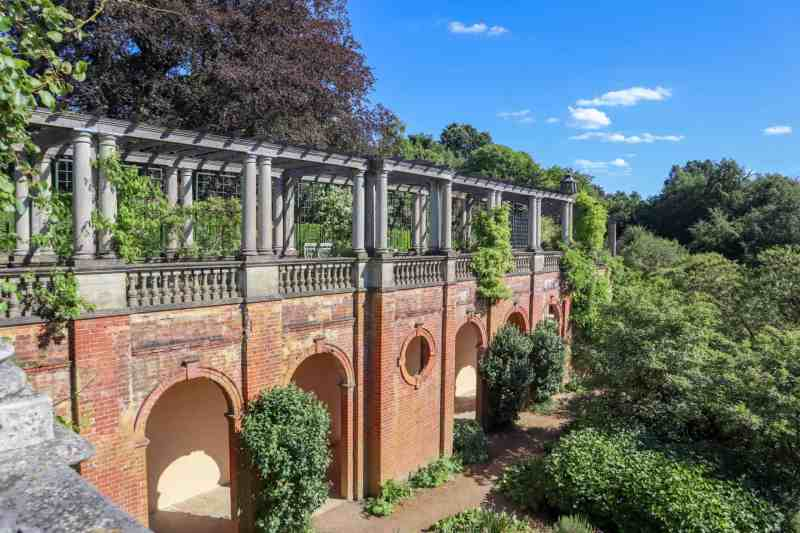 Things to do in Hampstead London Pergola Garden and hill