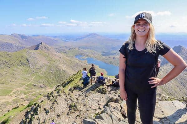 Ellie Quinn at Snowdon Summit