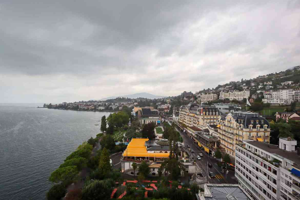 Montreux to Lausanne, Lausanne to Montreux, Eurotel Hotel view