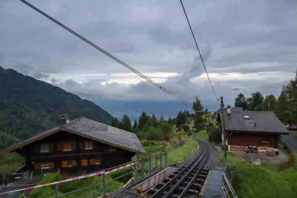 Montreux to Lausanne, Lausanne to Montreux, mountain view