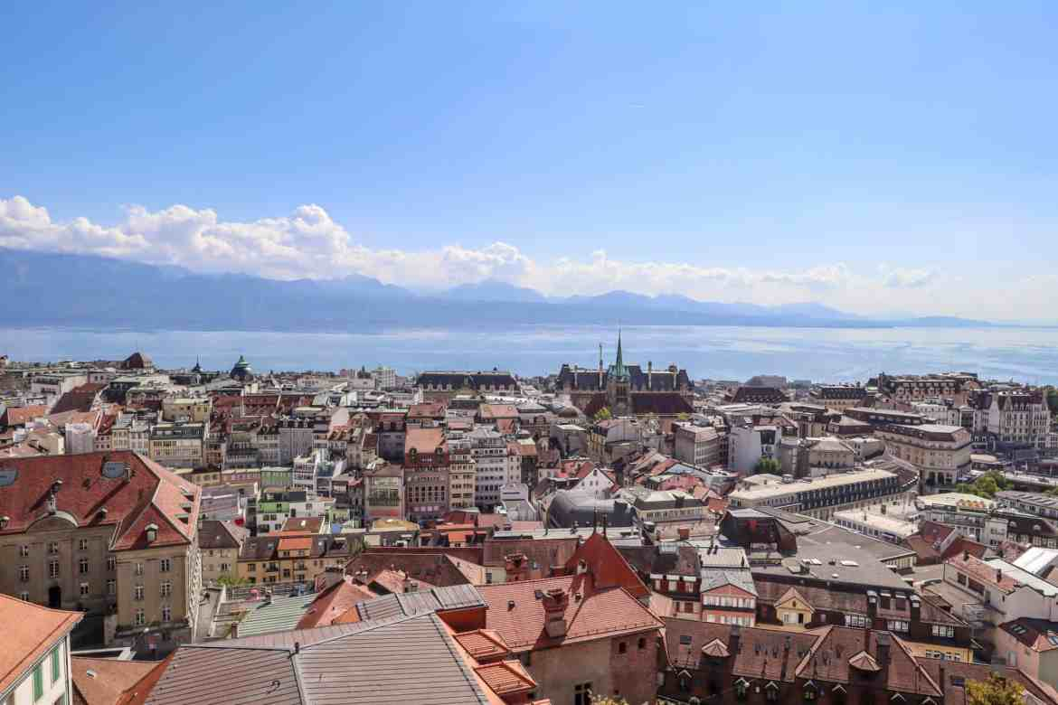 Montreux to Lausanne, Lausanne to Montreux, Lausanne cathedral view