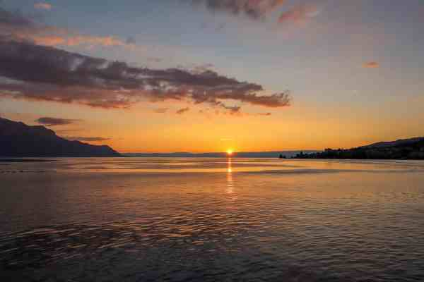 Montreux to Lausanne, Lausanne to Montreux, sunset cruise