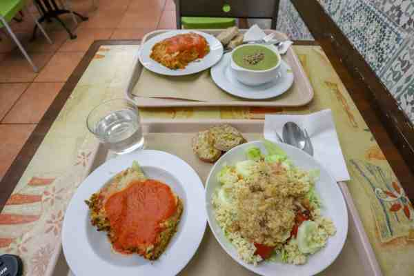 vegetarian food zaragoza