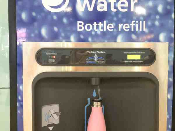 HEATHROW AIRPORT WATER BOTTLE REFIL STATION