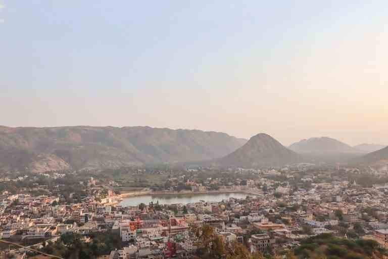 View of Pushkar from Pap Mochani Temple | best places to visit in India