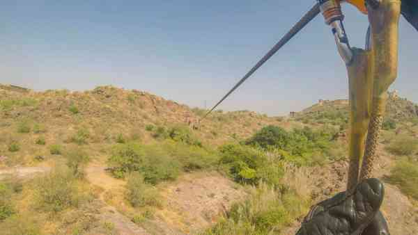 Zip lining in Jodhpur India