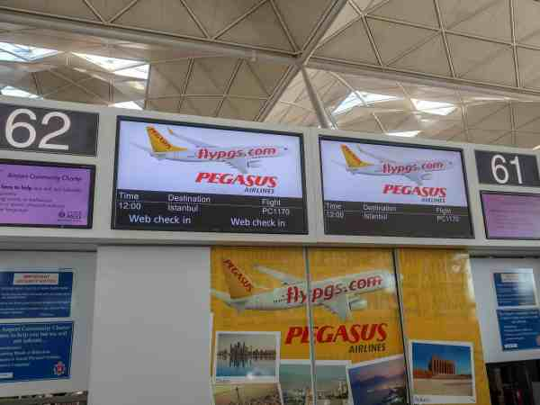 Pegasus Airlines London Stansted to Istanbul