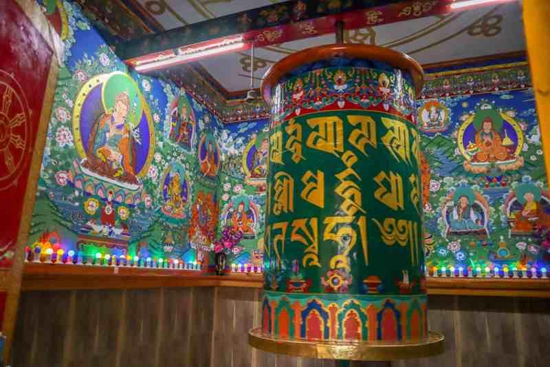 how to meet the dalai lama in Dharamshala, prayer wheel at The Dalai Lama Temple Mcleod Ganj