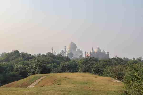 Taj Nature Walk View of Taj Mahal
