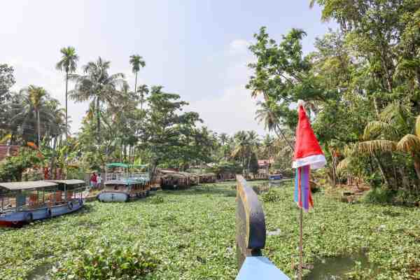 Kerala Backwaters from Alleppey Christmas Day