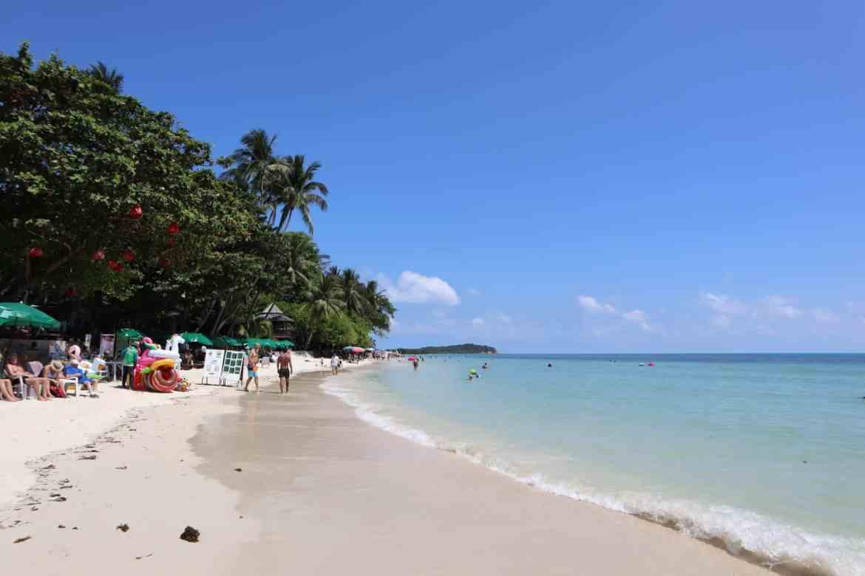 1 month Thailand itinerary, koh samui beach Chaweng