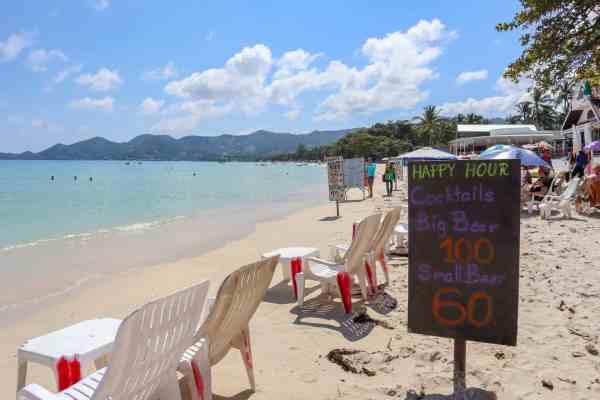visiting koh samui on a budget happy hours
