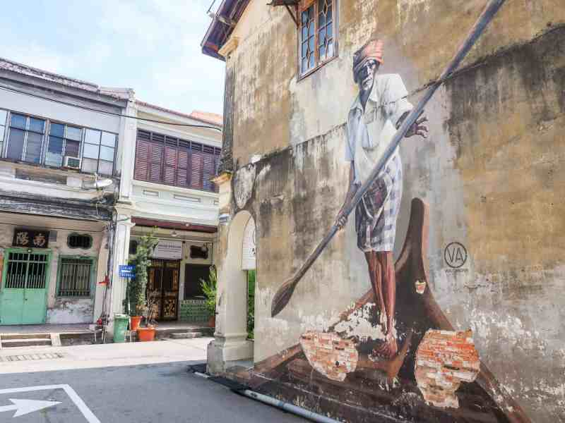 Georgetown Penang Malaysia Guide famous street art | best places to travel in Asia December and January
