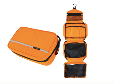 backpacking essentials hanging toiletry bag
