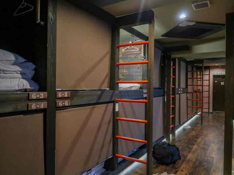 22 bed dorm room in japan
