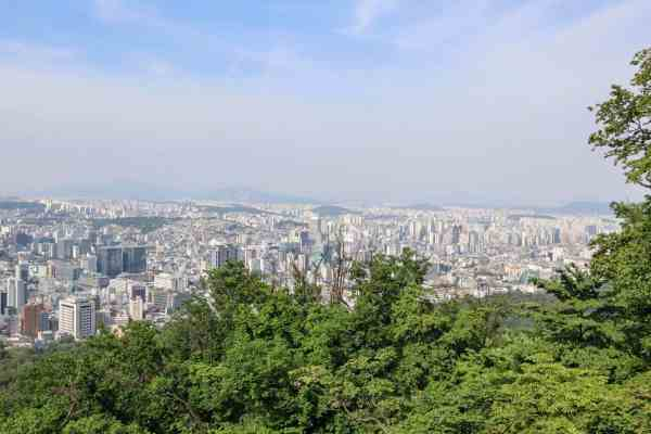 free things to do in Seoul - Namsan Park view Seoul