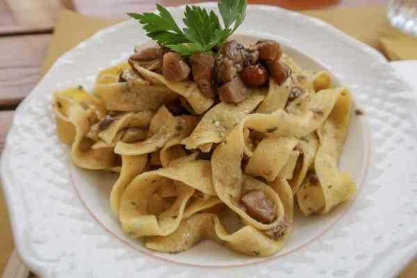 San Vili Pathway Trek Lunch Pasta