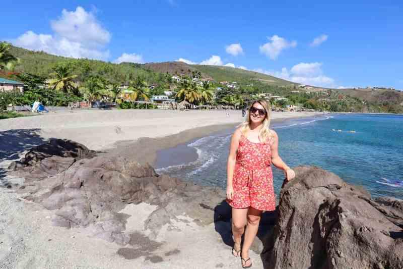 dominica travel guide, ellie quinn on mero beach dominica