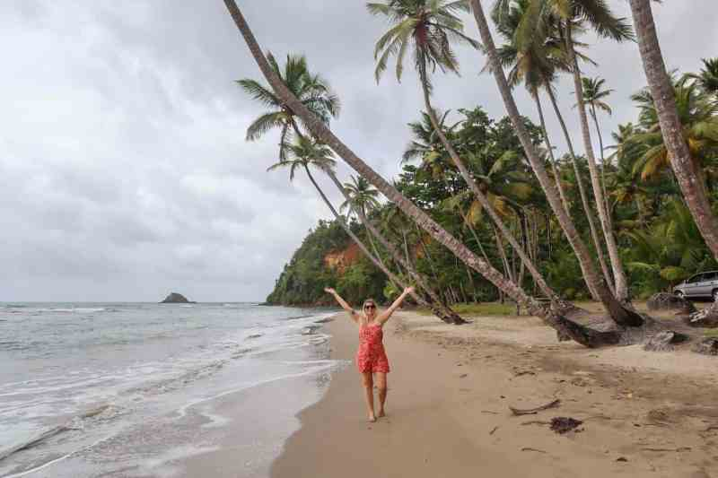 ellie quinn on beach in dominica