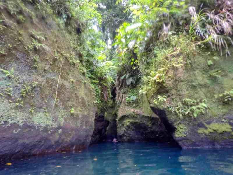 dominica travel guide, titou gorge dominica blue water