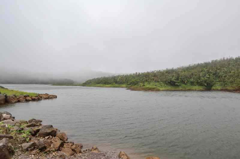 freshwater lake dominica in cloud | things to do in Dominica