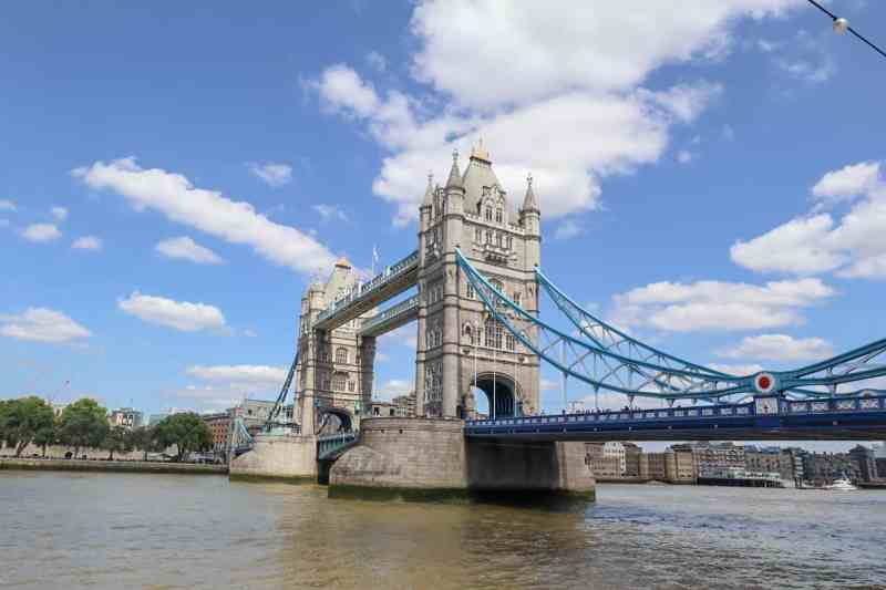 Tower Bridge with Blue Sky | London River Thames Walk
