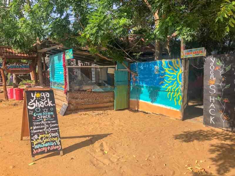 yoga shack outside in Arugam Bay