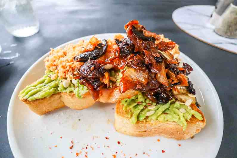 avocado on toast Aloha Coffee Gallery Cafe in Mirissa | best cafes in mirissa