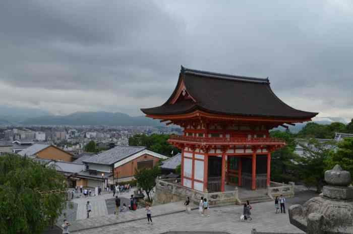 Kyoto Temple cloud weather | best places to travel in Asia in July and August