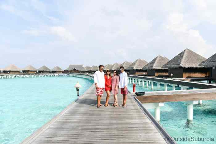 Maldives blue sky bungalows weather | best places to travel in Asia in July and August