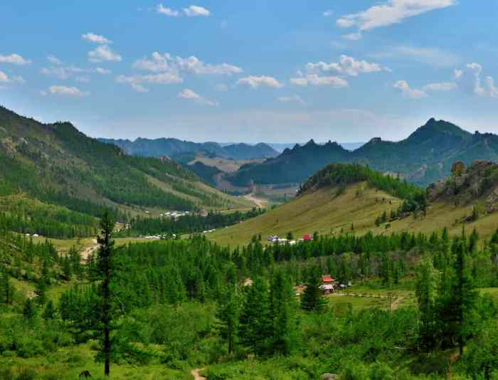 Green landscape in Mongolia weather | best places to travel in Asia in July and August