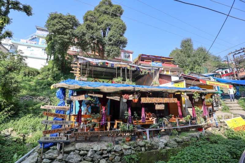 Nature Twins Cafe from outside | things to do in Bhagsu
