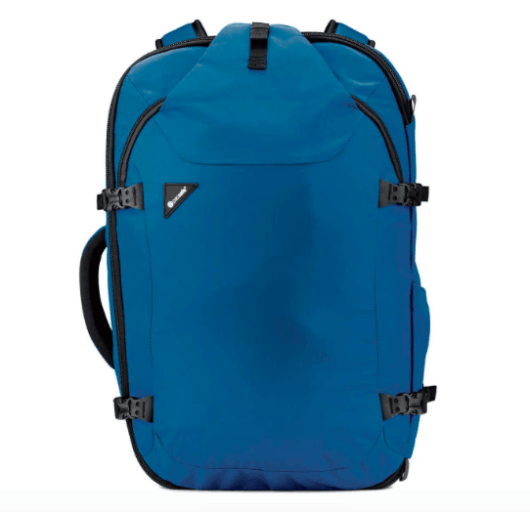 pacsafe venture blue carry on backpack